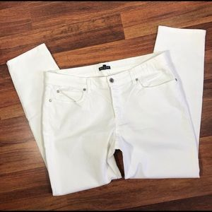 Eileen Fisher S3GDD Skinny Ankle White Jeans 12